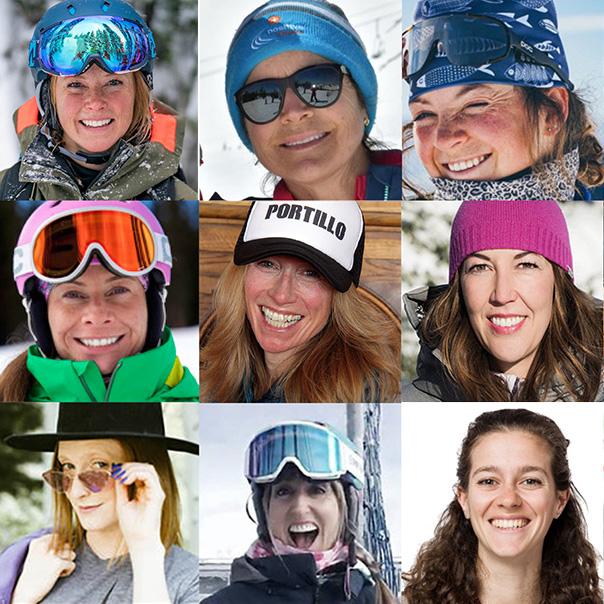 women ski testers