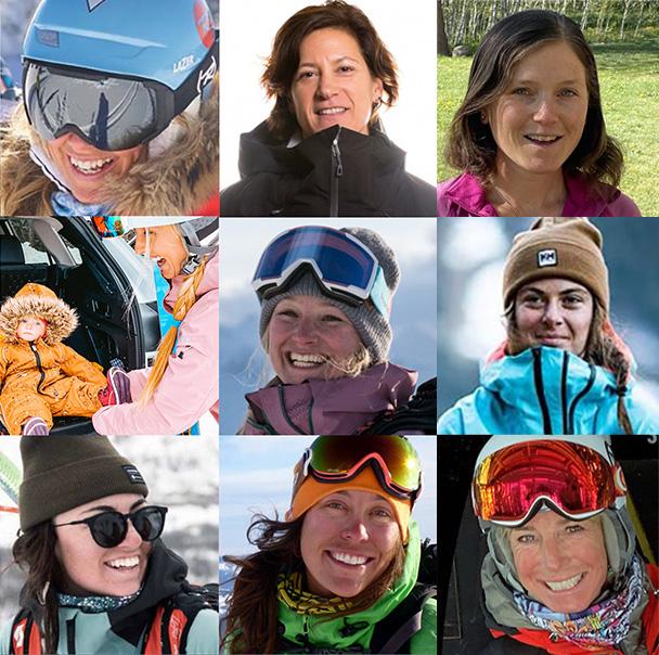 woman ski testers