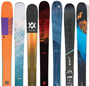 assorted skis